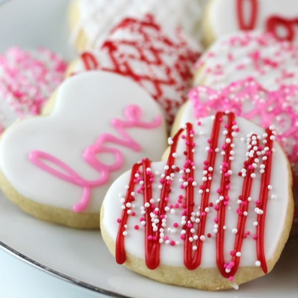 Valentine Cut Out Cookies-0